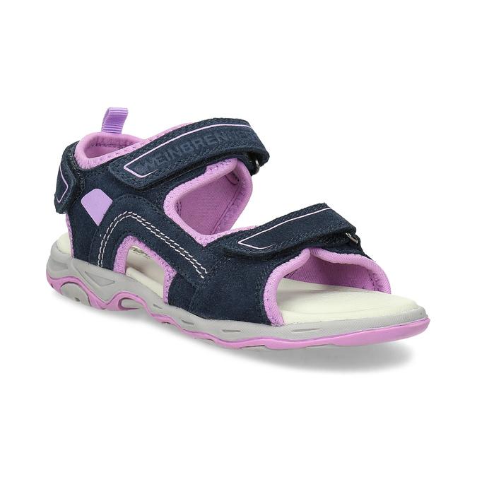 Dívčí sandály kožené weinbrenner, modrá, 463-9708 - 13