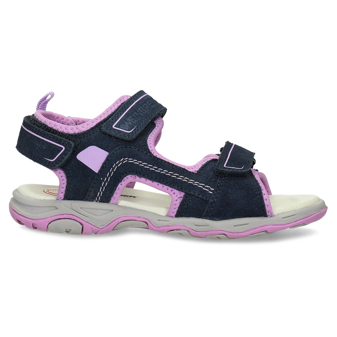 Dívčí sandály kožené weinbrenner, modrá, 463-9708 - 19