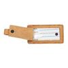 Kožená béžová jmenovka na kufr bata, hnědá, 944-3651 - 16