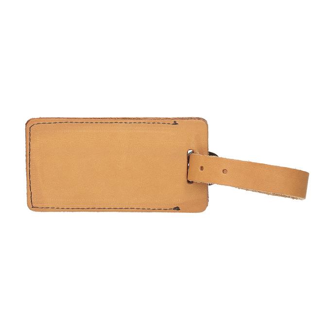 Kožená béžová jmenovka na kufr bata, hnědá, 944-3651 - 26