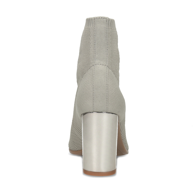 Šedé kotníčkové kozačky na stabilním podpatku bata-b-flex, šedá, 799-2646 - 15