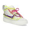 Bílé kotníčkové tenisky s barevnými tkaničkami bata, bílá, 544-1114 - 13