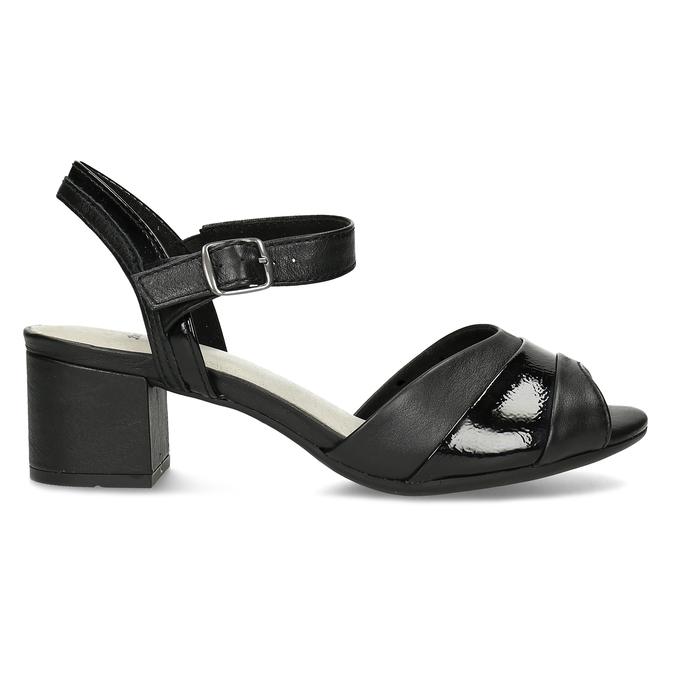 Dámské nazouváky na podpatku bata, černá, 664-6602 - 19