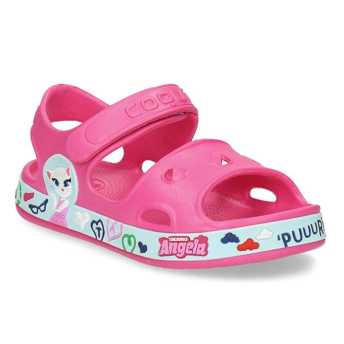 Růžové dětské sandály coqui, růžová, 172-5600 - 13