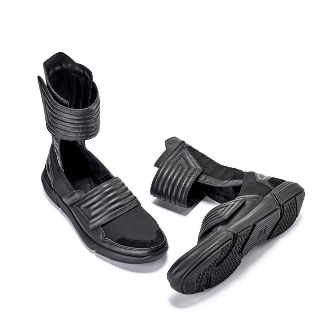 Vysoké pánské tenisky se suchými zipy bata, černá, 844-6745 - 16