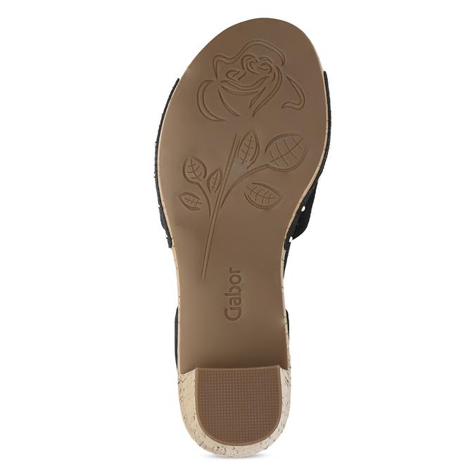 Černé dámské sandály z broušené kůže gabor, černá, 663-6603 - 18