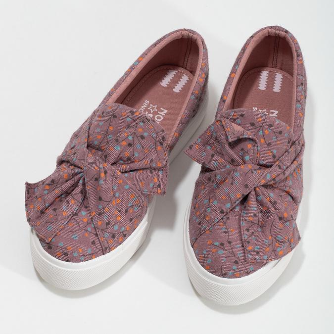 Fialová dámská Slip-on obuv se vzorem north-star, červená, 639-5602 - 16