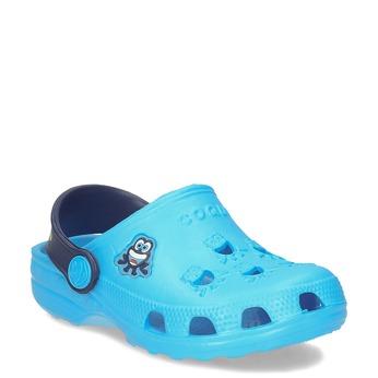 Dětské modré sandály s průstřihy coqui, modrá, 272-9750 - 13