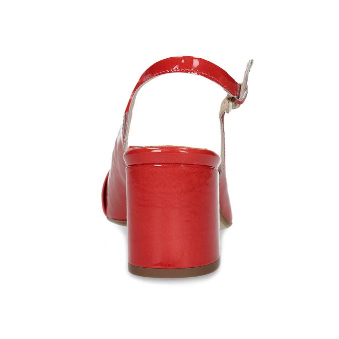 Červené lakované lodičky bata, červená, 628-5632 - 15
