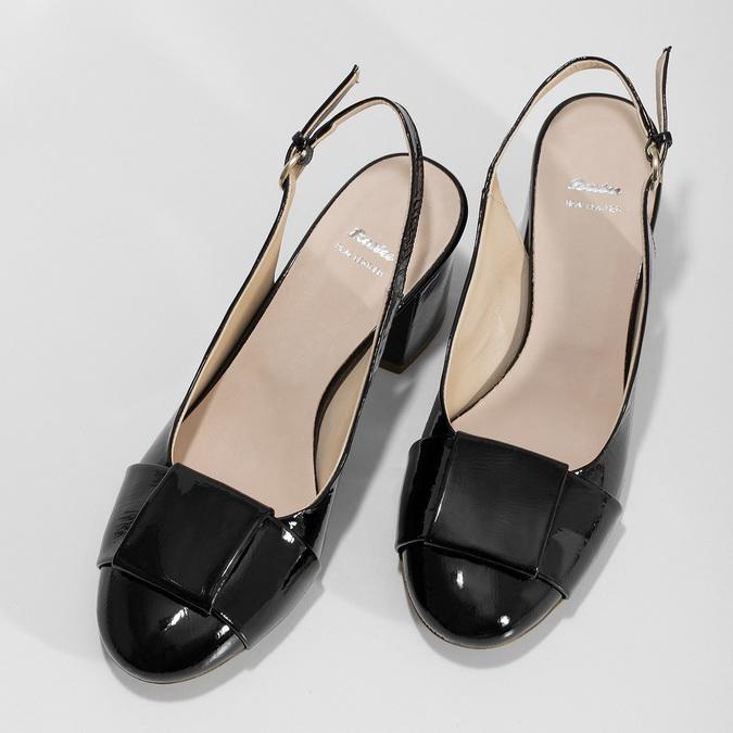 Černé lakované lodičky bata, černá, 628-6632 - 16