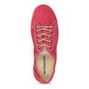 Červené dámské polobotky s perforací weinbrenner, červená, 546-5603 - 17