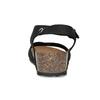 Černé kožené sandály s perličkami bata, černá, 666-6603 - 15