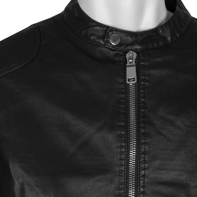 Hnědá pánská bunda se stříbrnými zipy bata, černá, 971-4221 - 16