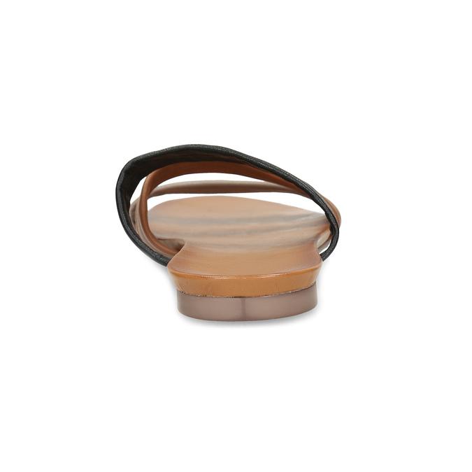 Kožené nazouváky hnědé bata, hnědá, 564-0600 - 15