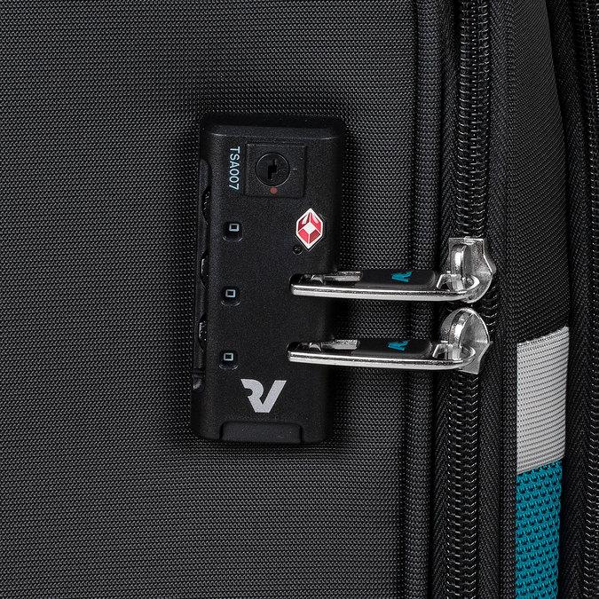 Černý textilní cestovní kufr roncato, černá, 969-6726 - 16