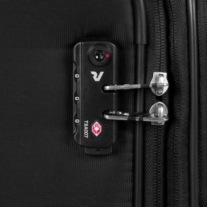 Černý cestovní kufr na kolečkách roncato, černá, 969-6739 - 16