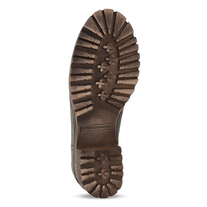 Šedá dámská kožená zimní obuv se zateplením weinbrenner, šedá, 696-2168 - 18