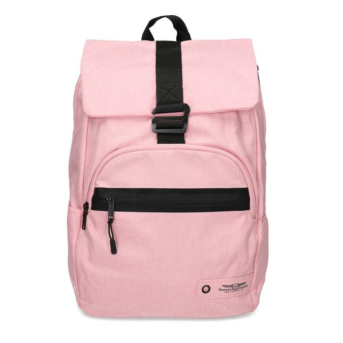 Dámský růžový batoh s černými detaily american-tourister, růžová, 969-5743 - 26