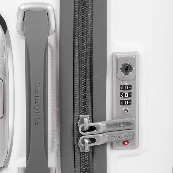 Bílý cestovní kufr na kolečkách samsonite, bílá, 960-1620 - 16