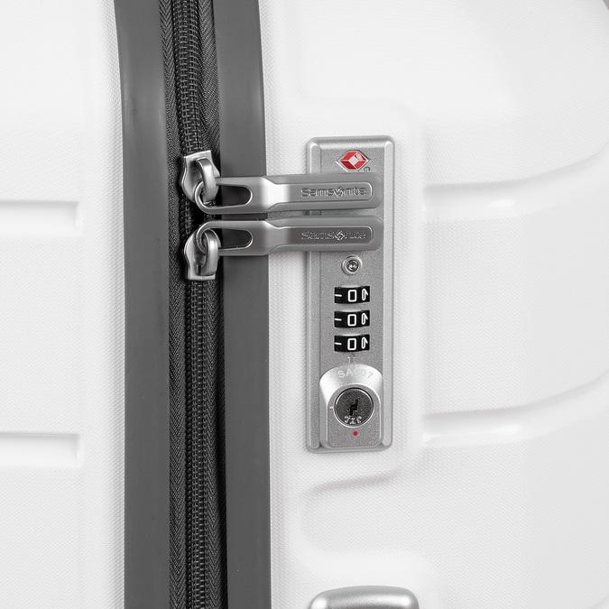 Cestovní bílý kufr na kolečkách samsonite, bílá, 960-1622 - 16