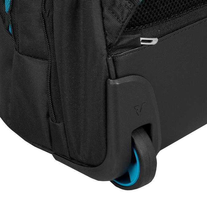 Černý cestovní batoh s modrými detaily roncato, černá, 969-6731 - 16
