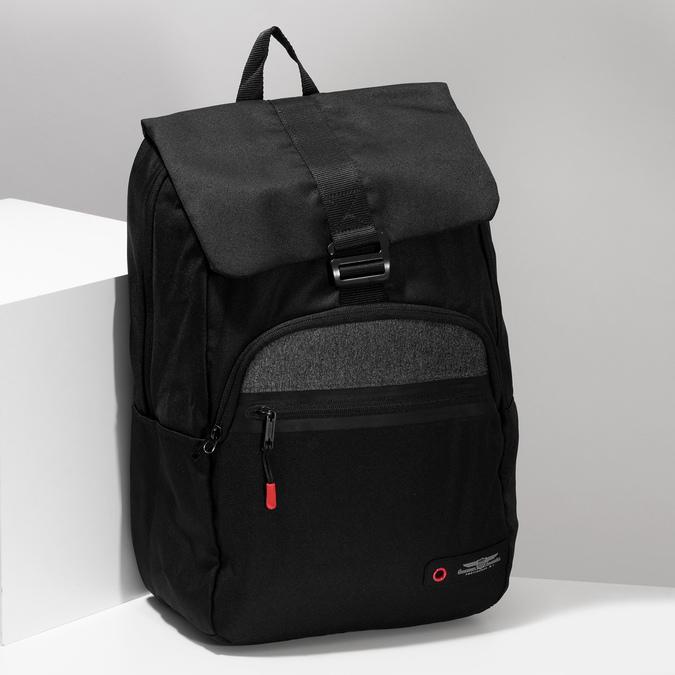 Černý cestovní batoh american-tourister, černá, 969-6744 - 17