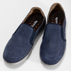 Pánské slip-on boty s perforací weinbrenner, modrá, 836-9687 - 16