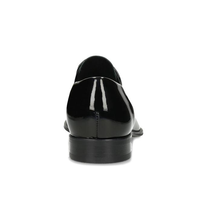 Pánské černé kožené lakované polobotky conhpol, černá, 828-6607 - 15