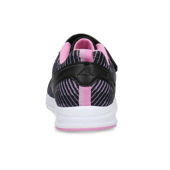 Černé dětské tenisky s růžovými detaily power, černá, 309-5413 - 15