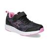 Černé dětské tenisky s růžovými detaily power, černá, 309-5413 - 13