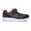 Černé dětské tenisky s růžovými detaily power, černá, 309-5413 - 19