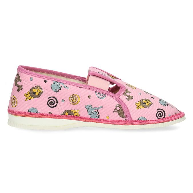 Dětské růžové přezůvky se vzorem bata, růžová, 379-5616 - 19