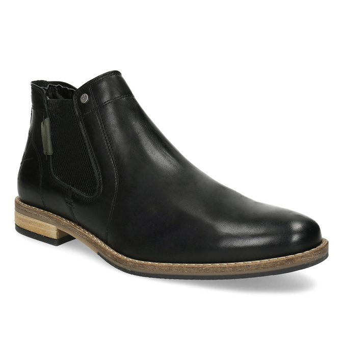 Pánská černá kožená Chelsea obuv bata, černá, 826-6661 - 13