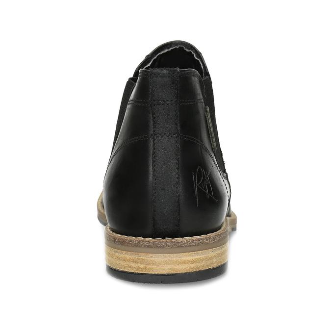 Pánská černá kožená Chelsea obuv bata, černá, 826-6661 - 15