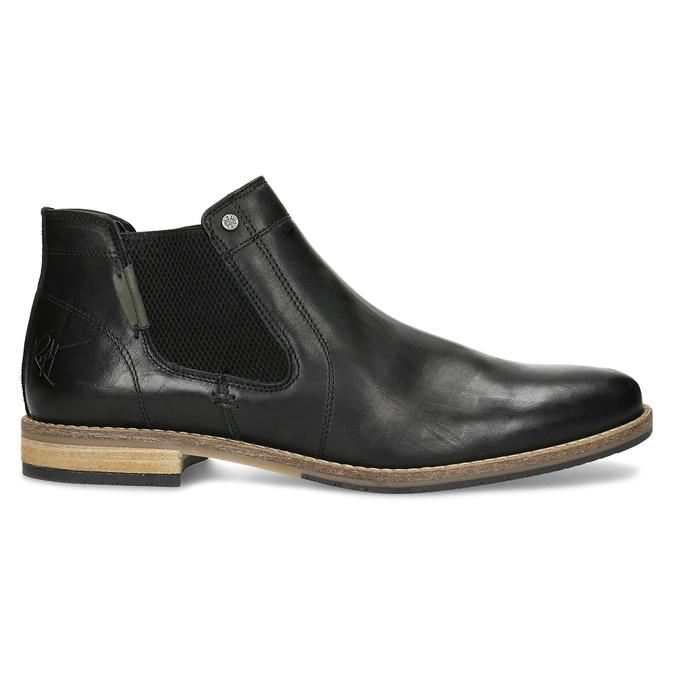 Pánská černá kožená Chelsea obuv bata, černá, 826-6661 - 19