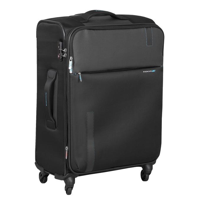 Textilní černý kufr na kolečkách roncato, černá, 969-6738 - 13