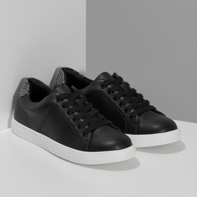 Černé dámské ležérní tenisky bata-red-label, černá, 541-6609 - 26