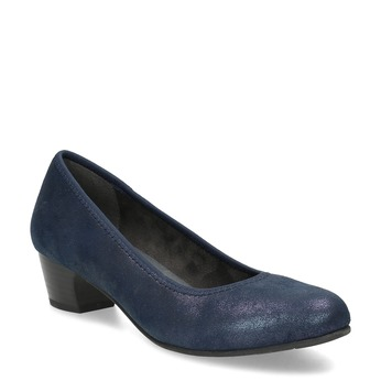 Modré lodičky na stabilním podpatku bata, modrá, 629-9601 - 13