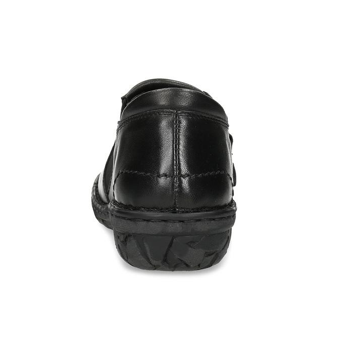 Dámská černá kožená Slip-on obuv bata, černá, 594-6625 - 15