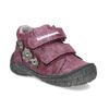Fialová dětská kotníčková obuv na suché zipy bubblegummers, fialová, 121-9722 - 13