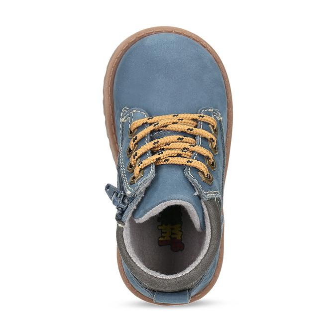 Dětská modrá kotníčková obuv s prošitím bubblegummers, modrá, 116-9620 - 17