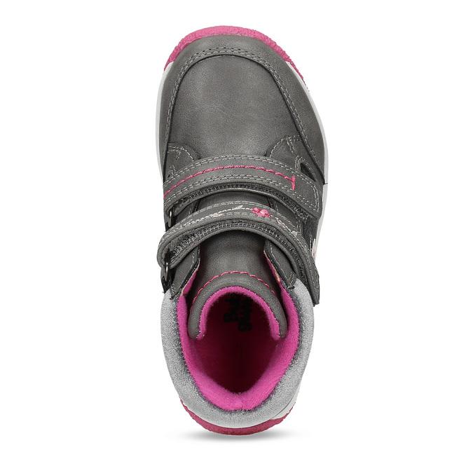 Šedé dětské tenisky s růžovými detaily mini-b, šedá, 221-2618 - 17