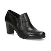 Kotníčková kožená obuv s prošitím bata, černá, 694-6609 - 13