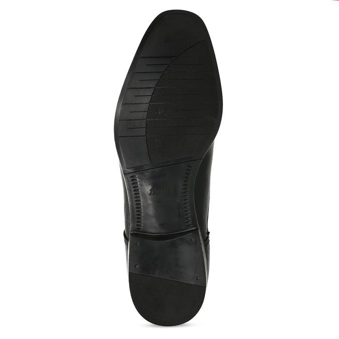 Černé pánské kožené Derby polobotky bata, černá, 824-6601 - 18