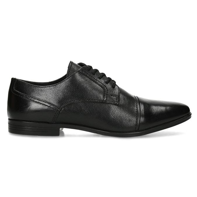 Černé pánské kožené Derby polobotky bata, černá, 824-6601 - 19