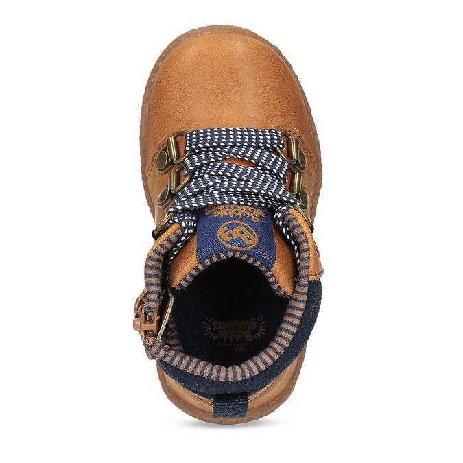 Hnědá dětská kotníčková obuv bubblegummers, hnědá, 111-3721 - 17