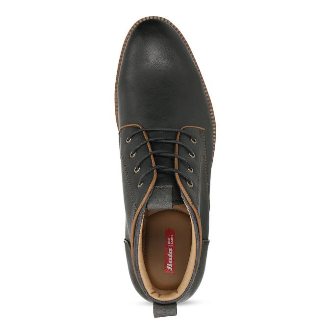 Černá pánská kotníčková obuv s prošitím bata-red-label, černá, 821-6665 - 17