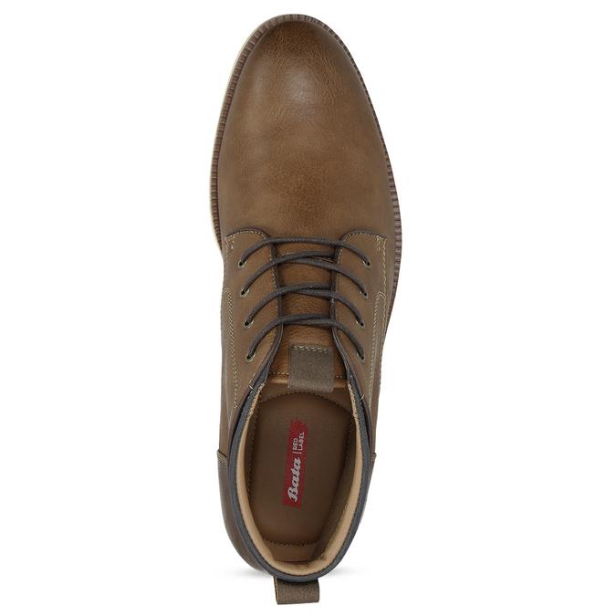 Pánská hnědá kotníčková obuv s prošitím bata-red-label, hnědá, 821-4665 - 17