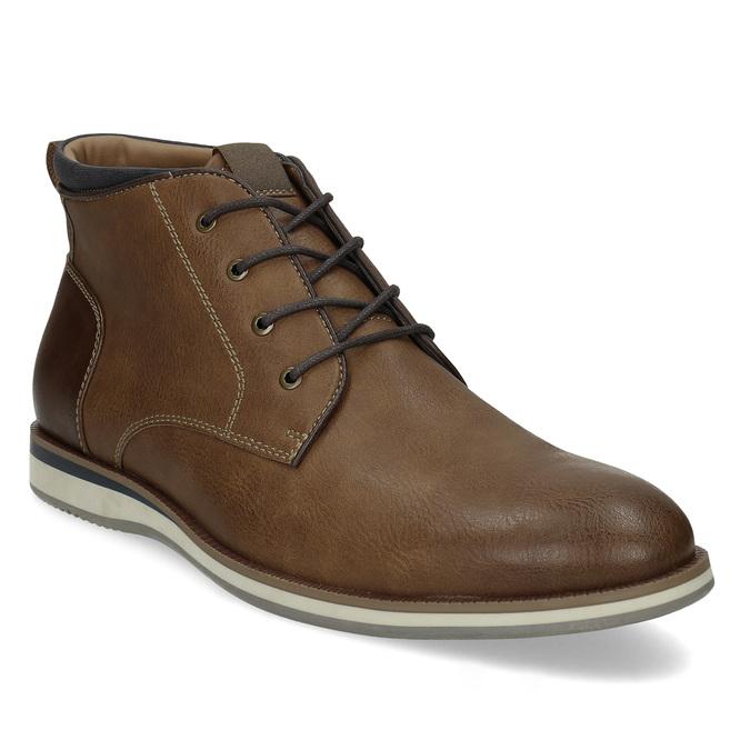 Pánská hnědá kotníčková obuv s prošitím bata-red-label, hnědá, 821-4665 - 13