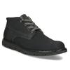 Pánská černá kožená kotníčková obuv weinbrenner, černá, 846-6658 - 13